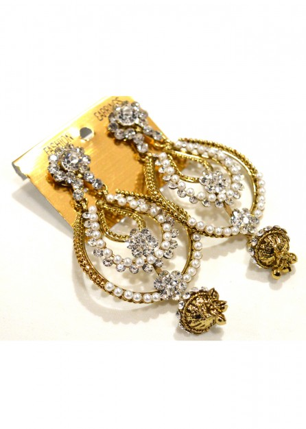 Antique Gold with Pearls Earrings