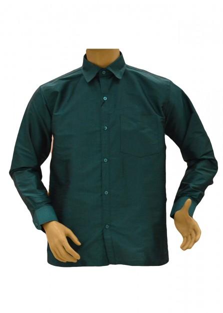 Teal Silk Shirt