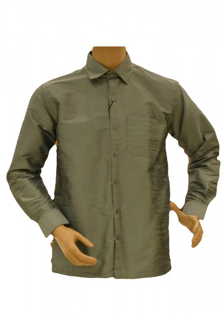 Marine Green Silk Shirt
