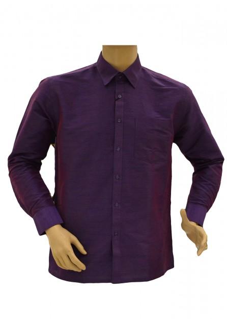 Lavender Purple Silk Shirt