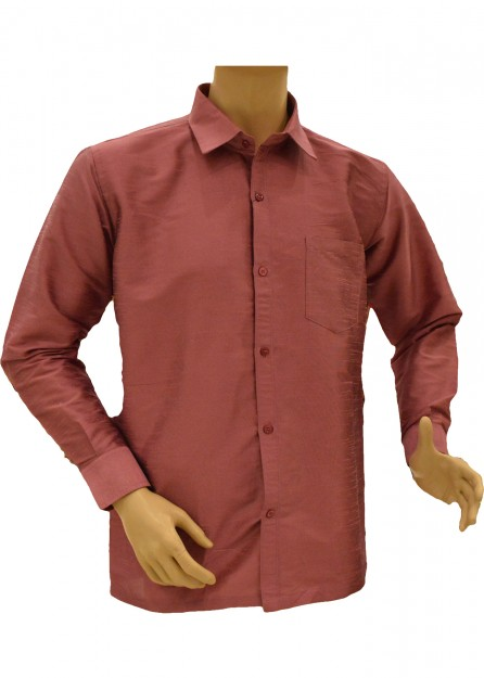 Mens Antique Rose Silk Shirt
