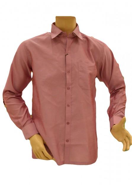 Rose Pink Silk Shirt