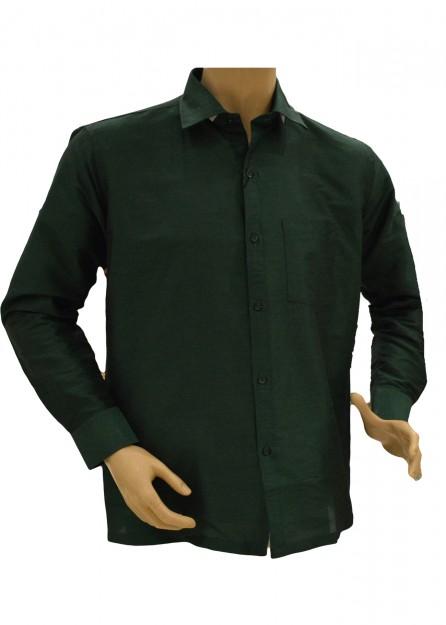 Dark Green Silk Shirt