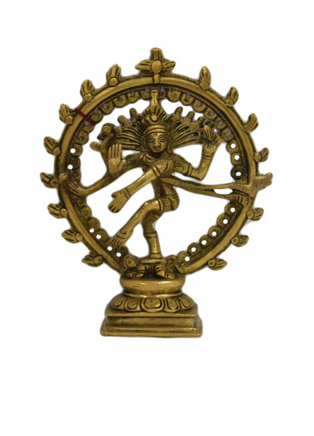 Brass Nataraja Statue with OM Sign