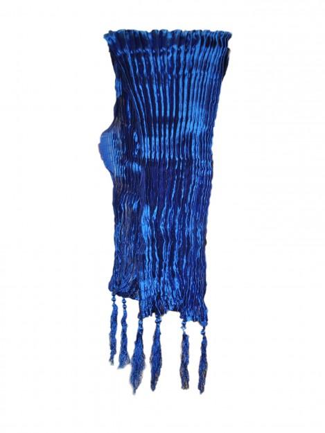 Plain Crushed Dupatta-Royal Blue