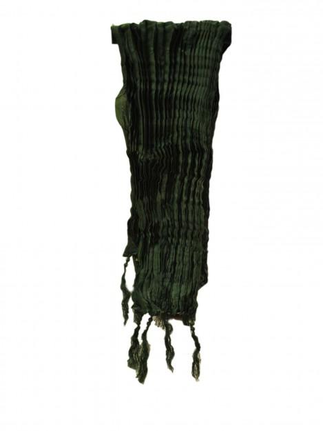 Plain Crushed  Dupatta-Green