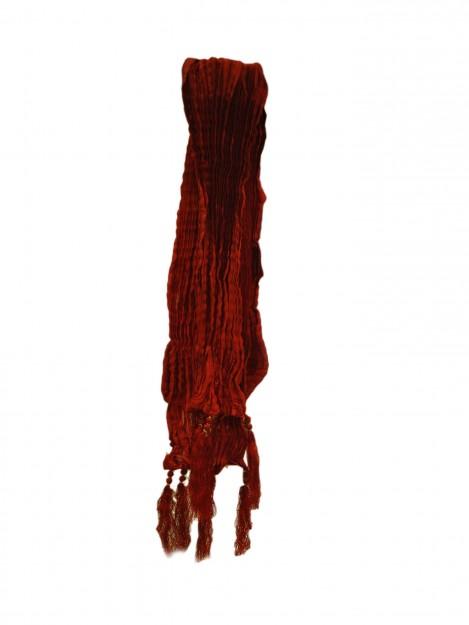 Plain Crushed Red Dupatta-Red