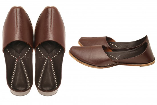 Brown Leather Kids Mojdi/Shoes