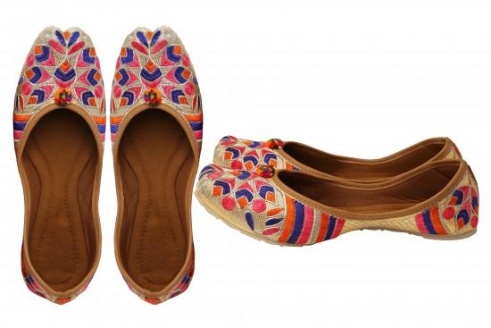 Multicolor Jodhpuri Women's mojdi / Shoes