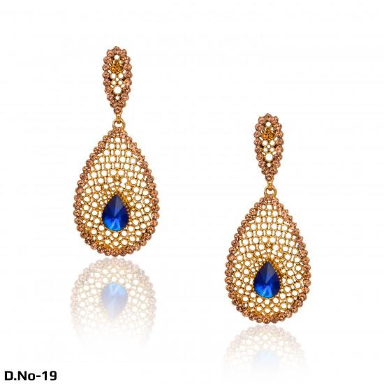 Antique Gold Diamonds & Pearls Earrings
