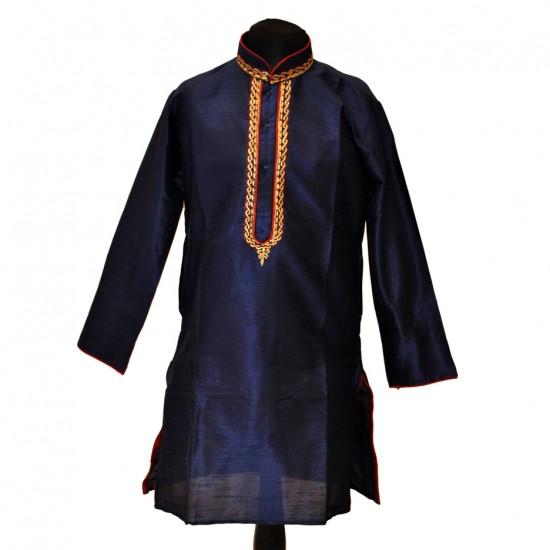 Kids Raw Silk With Embroidery Work Pyjama
